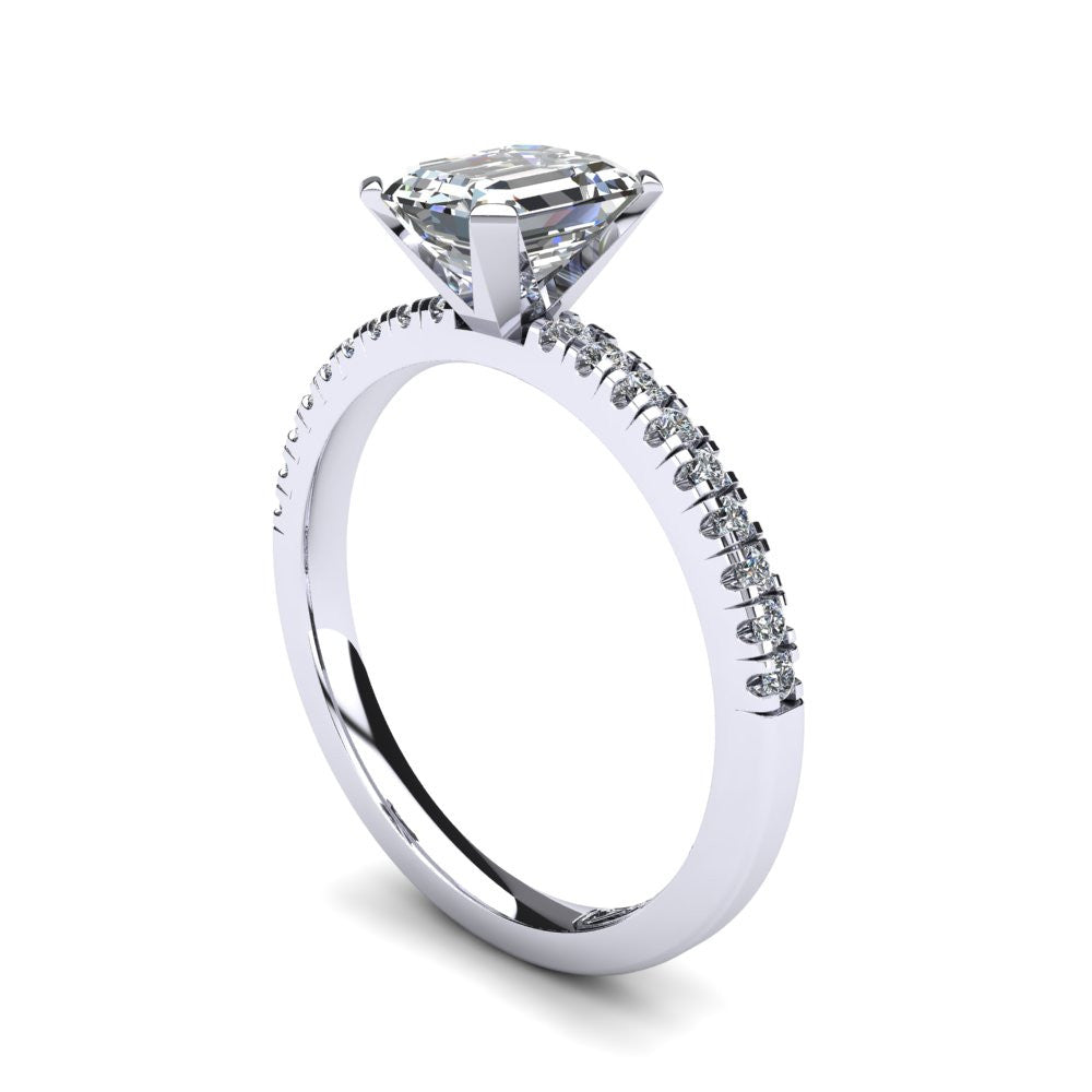 'Chloe' Emerald Cut Engagement Ring