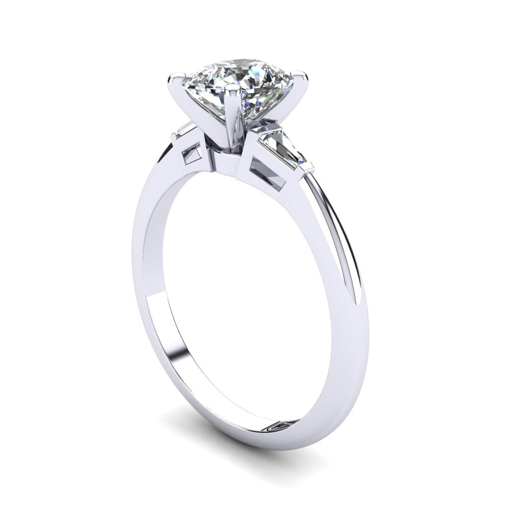 'Marni' Cushion Cut Engagement Ring