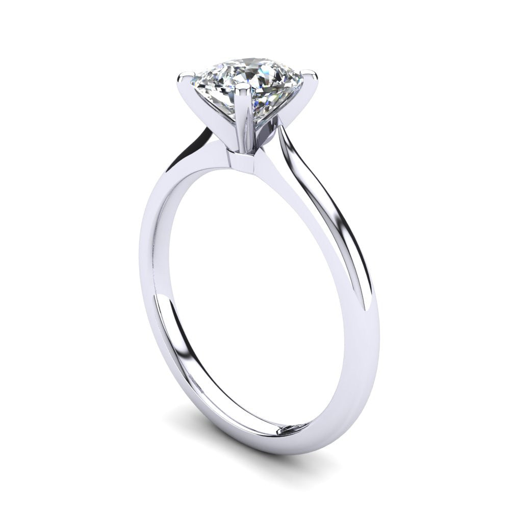 'Delta' Cushion Cut Engagement Ring