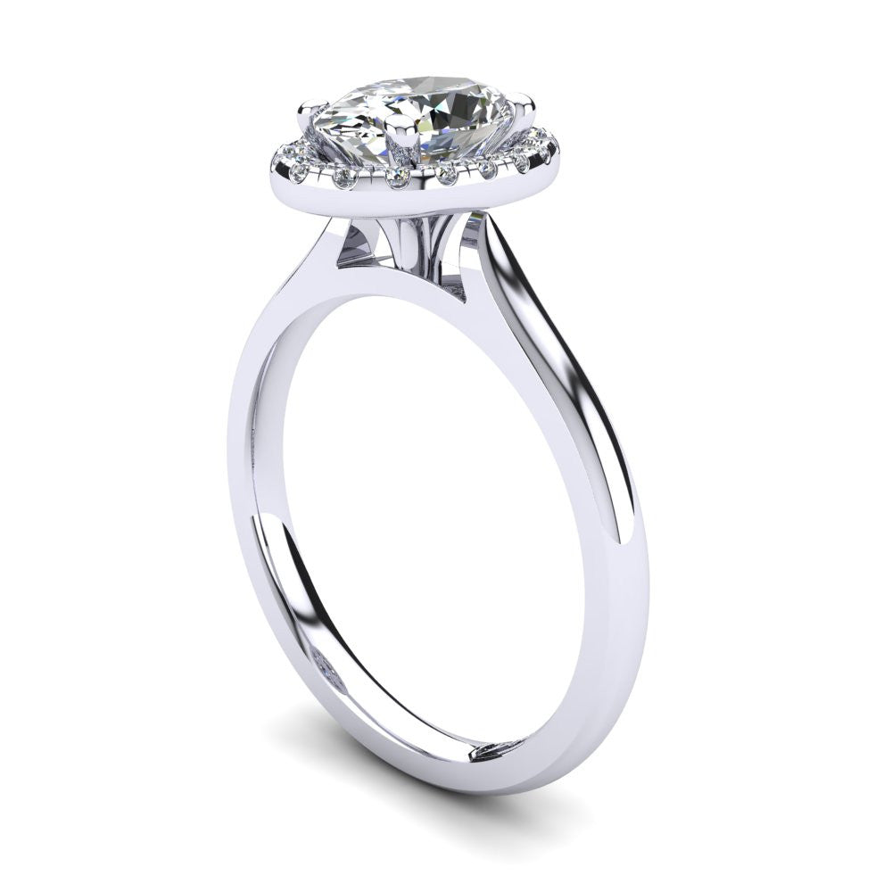 'Lola' Oval Cut Engagement Ring