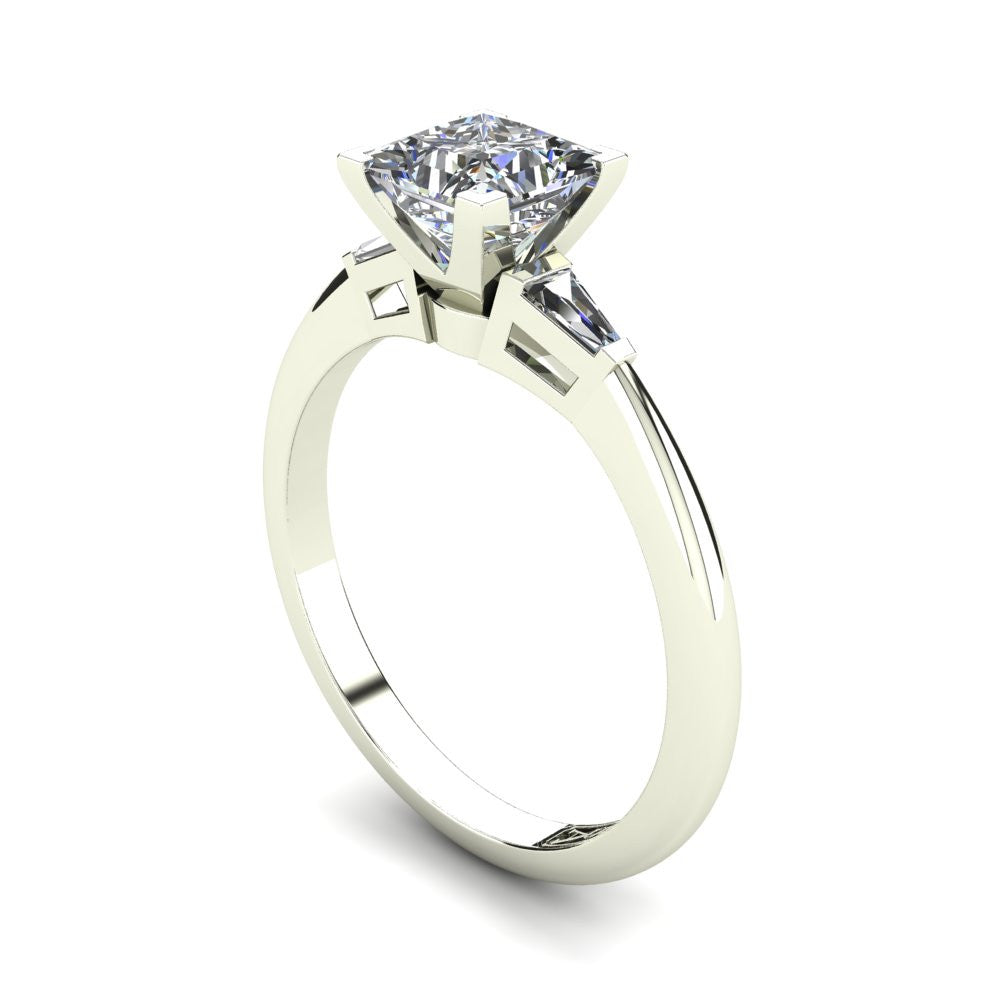 'Marni' Princess Cut Engagement Ring