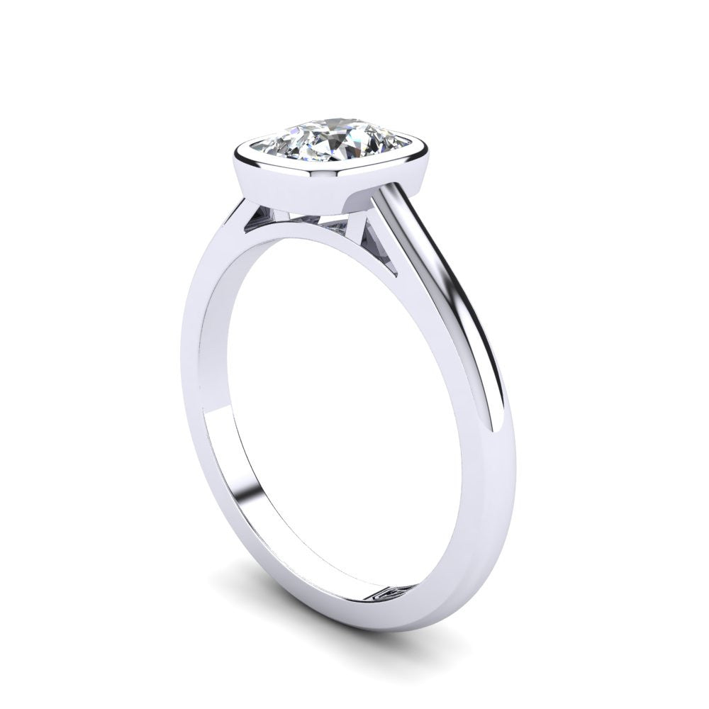'Abbie' Cushion Cut Engagement Ring