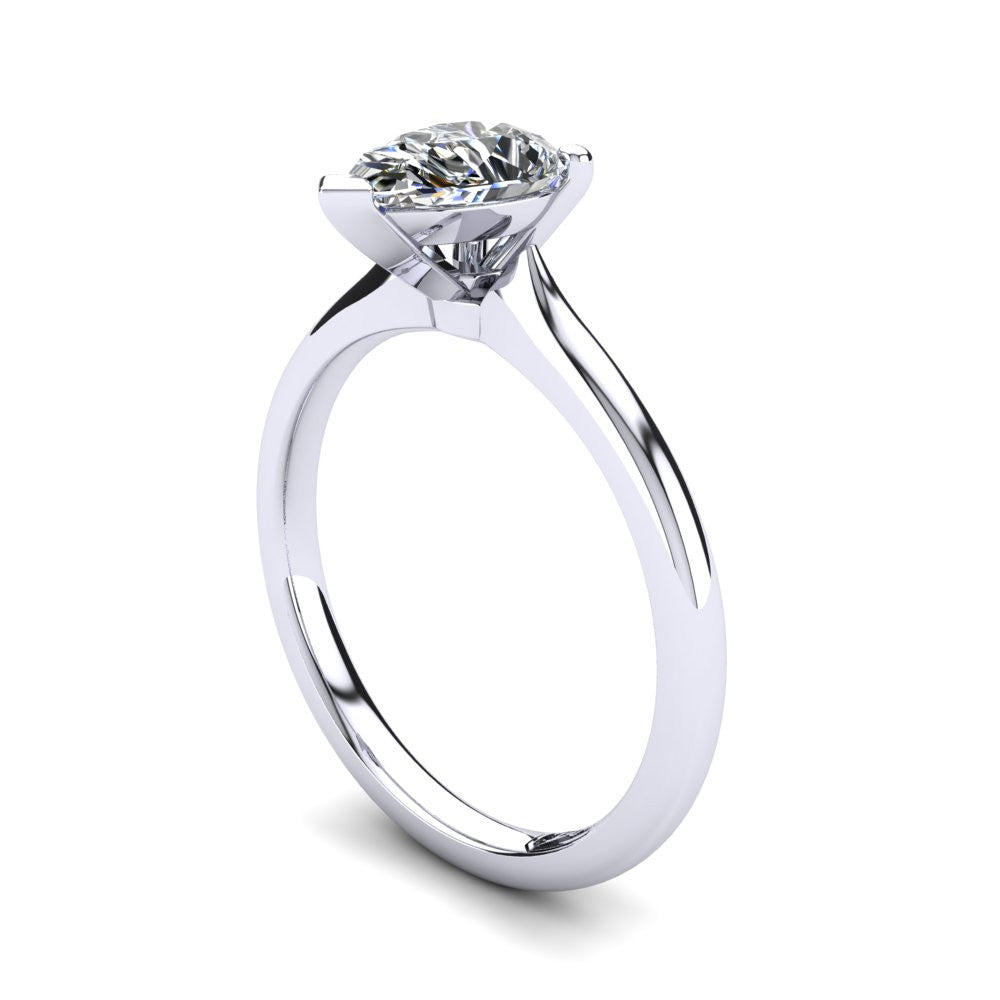 'Delta' Pear Cut Engagement Ring