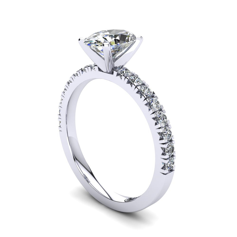 'Emily' Oval Cut Engagement Ring