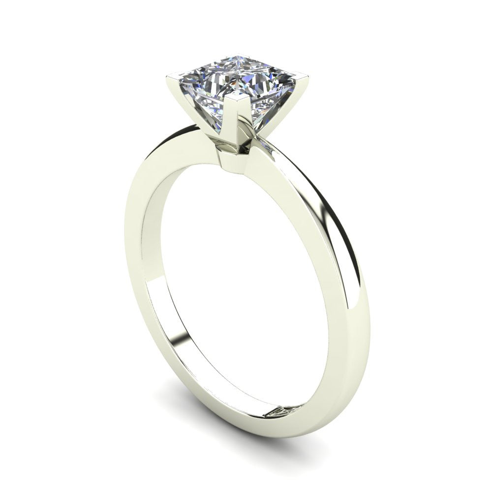 'Grace' Princess Cut Engagement Ring
