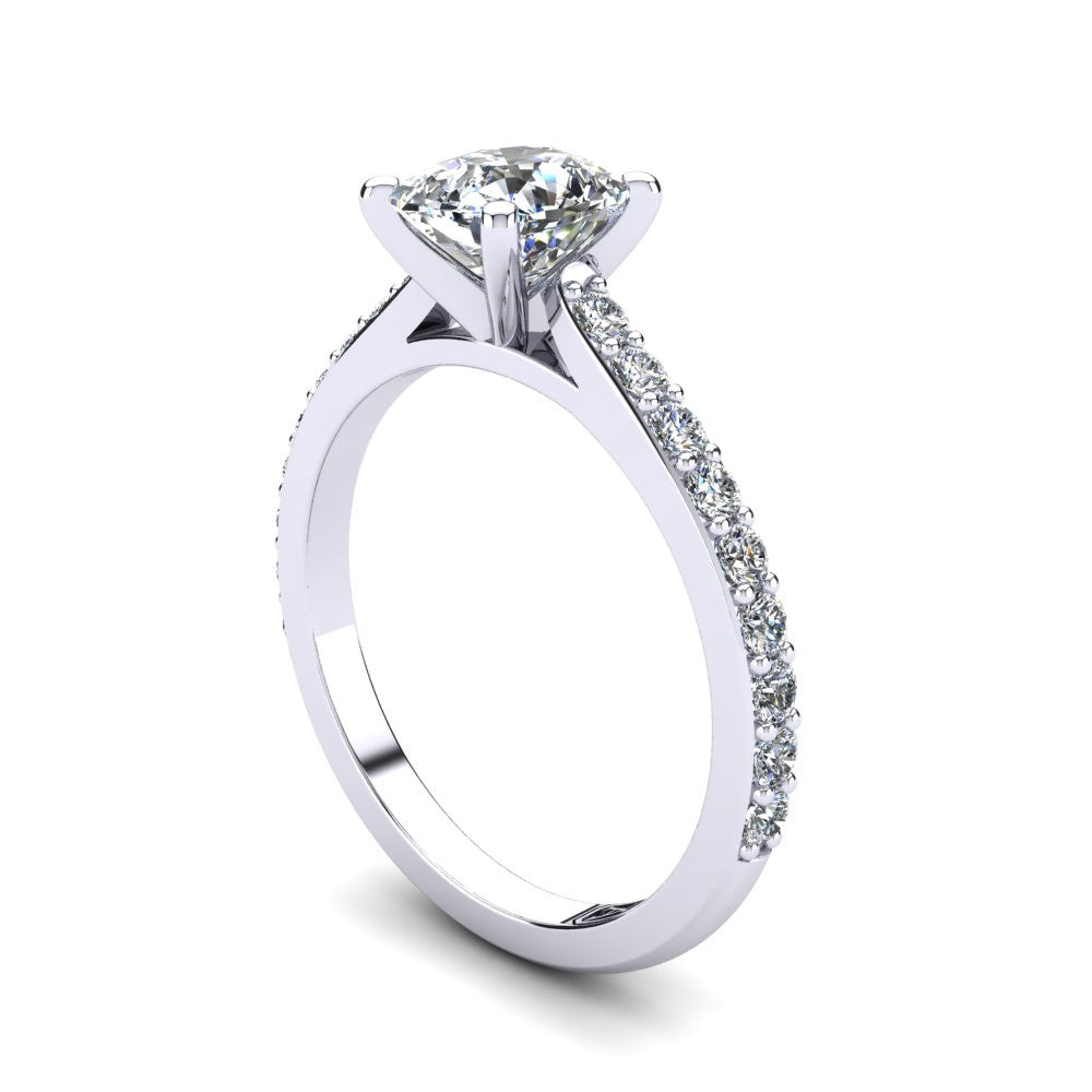 'Sasha' Cushion Cut Engagement Ring