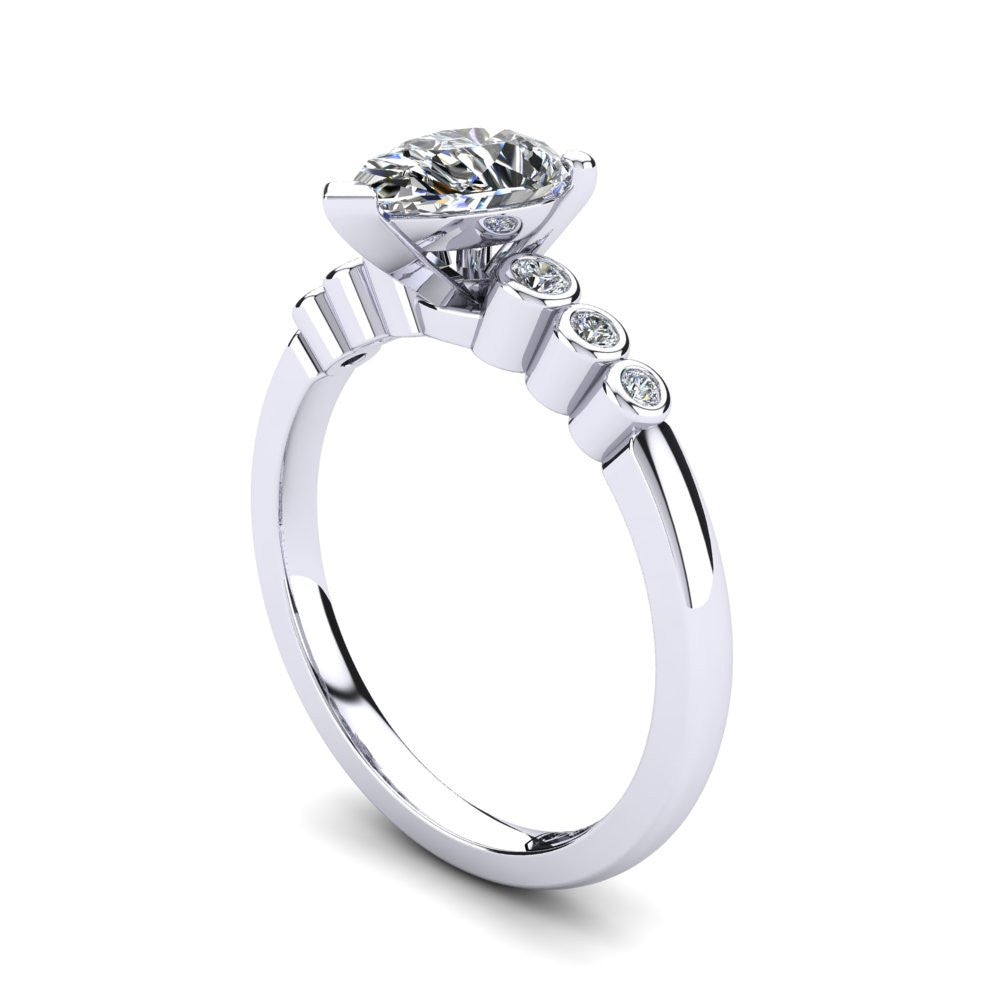 'Riley' Pear Cut Engagement Ring
