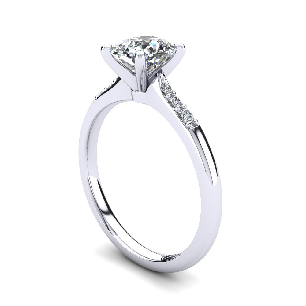 'Hope' Cushion Cut Engagement Ring