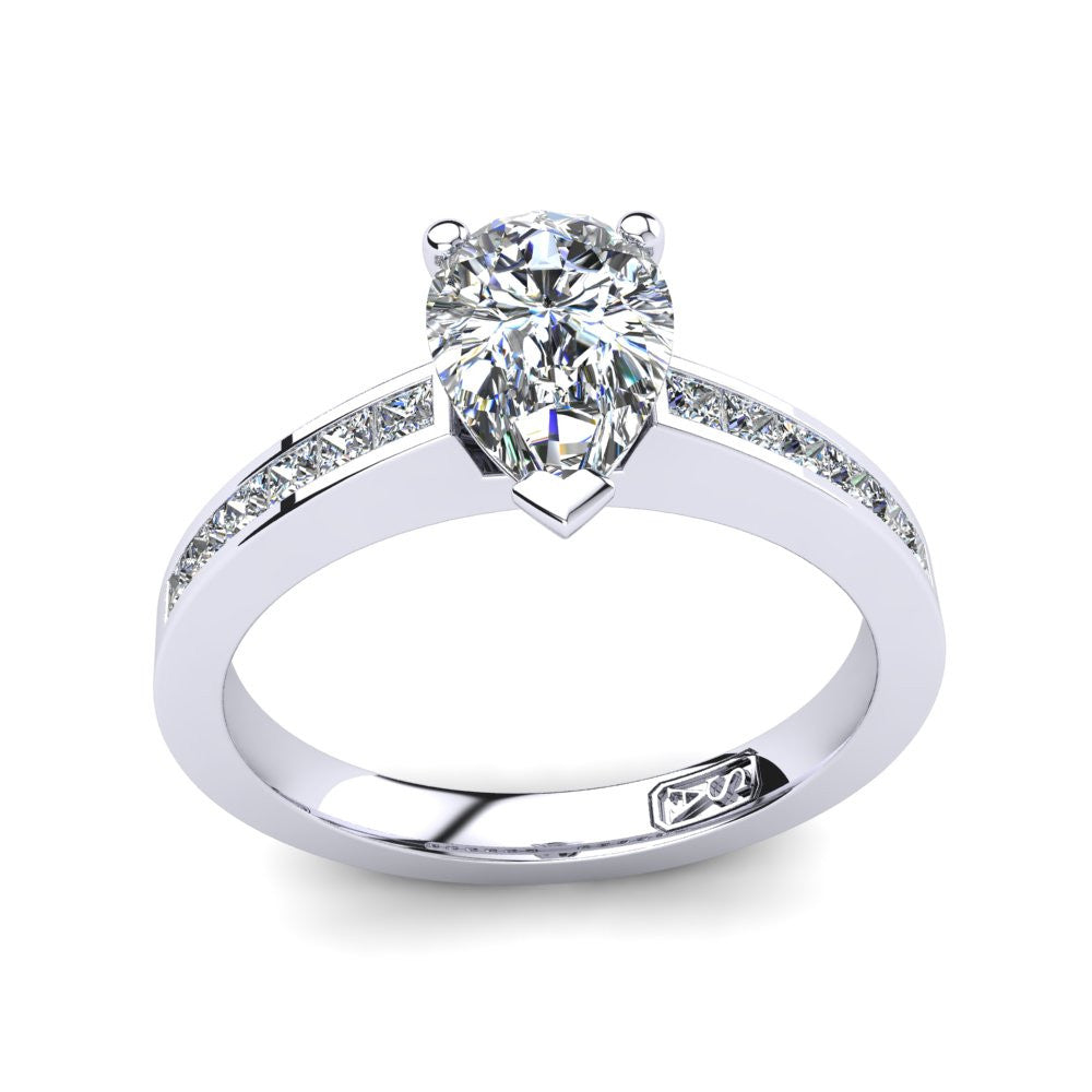 'Lydia' Pear Cut Engagement Ring