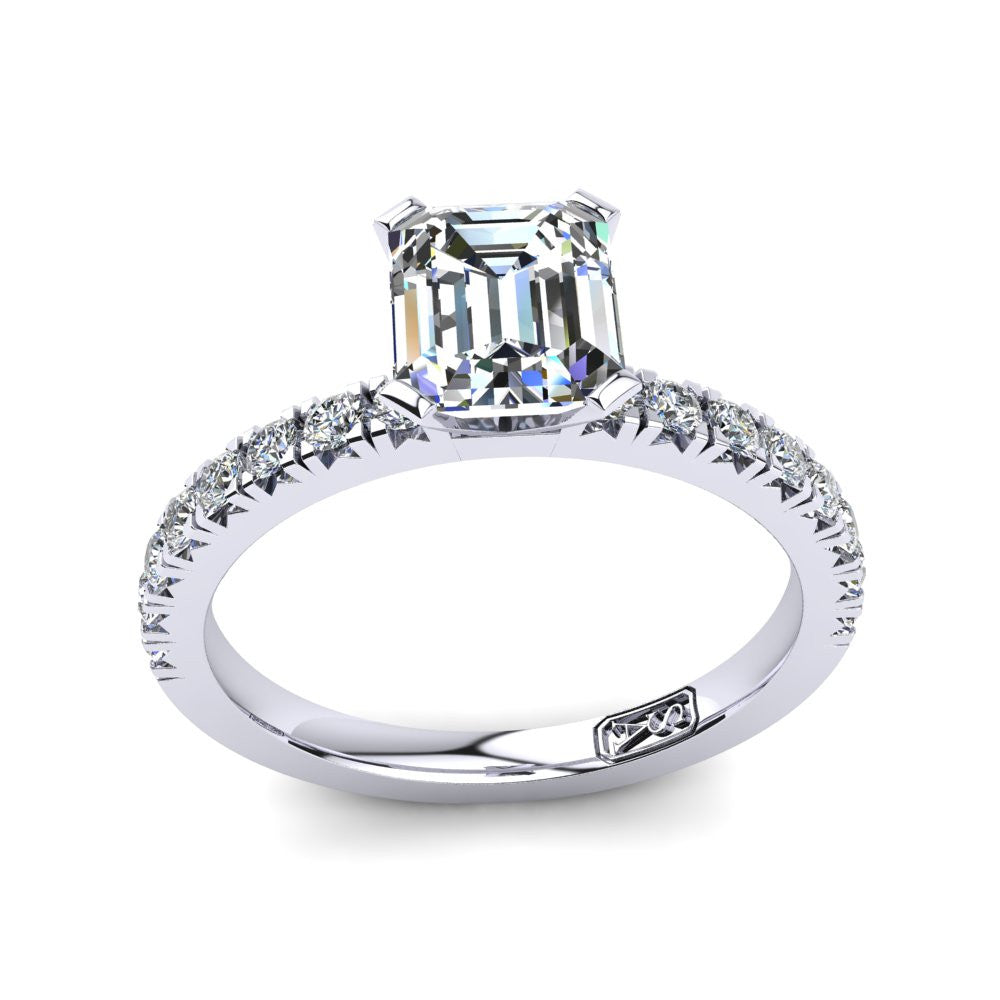 'Emily' Emerald Cut Engagement Ring