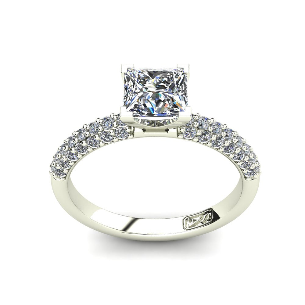 'Kylie' Princess Cut Engagement Ring