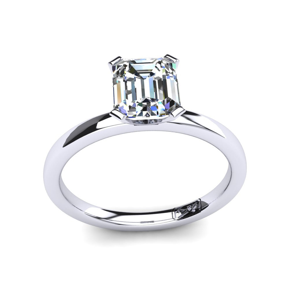 'Fiona' Emerald Cut Engagement Ring