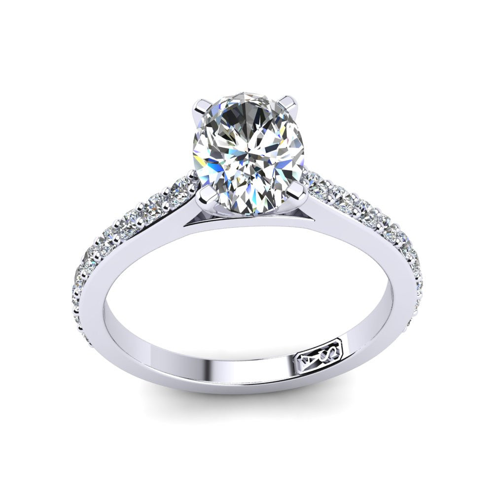 'Sasha' Oval Cut Engagement Ring