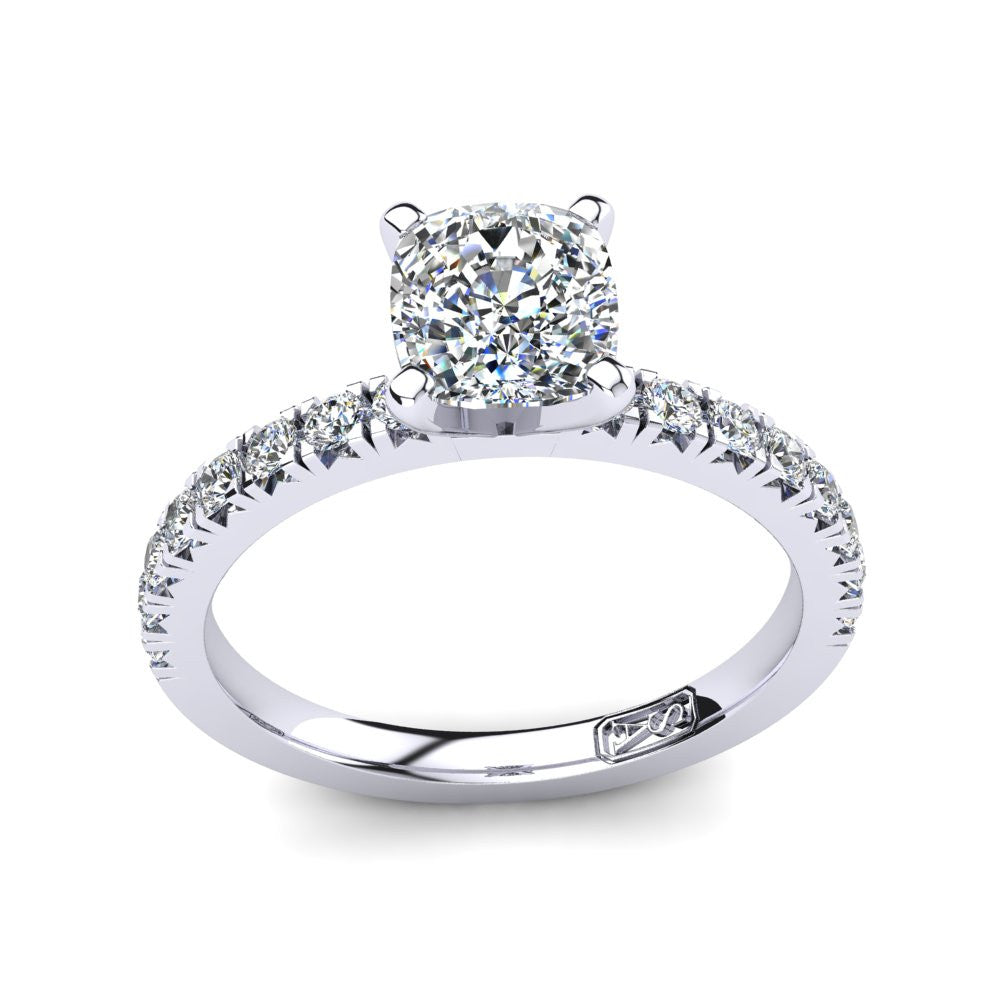 'Emily' Cushion Cut Engagement Ring