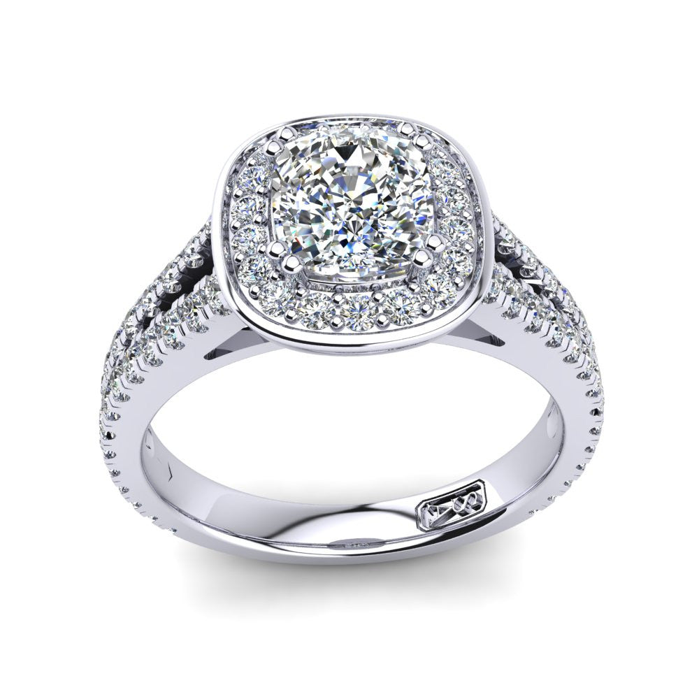 'Flora' Cushion Cut Engagement Ring