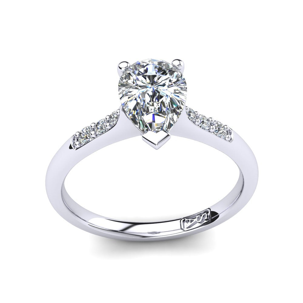 'Hope' Pear Cut Engagement Ring