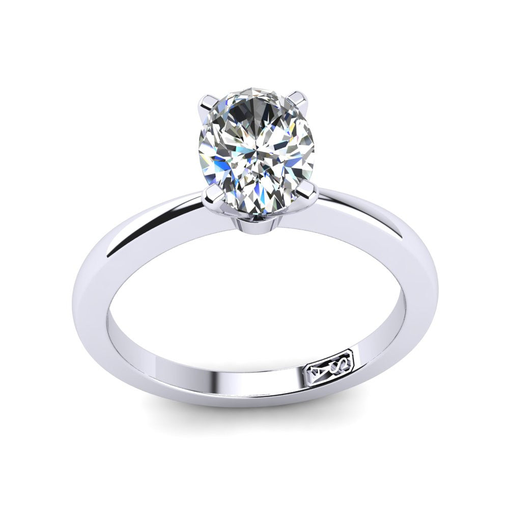'Grace' Oval Cut Engagement Ring