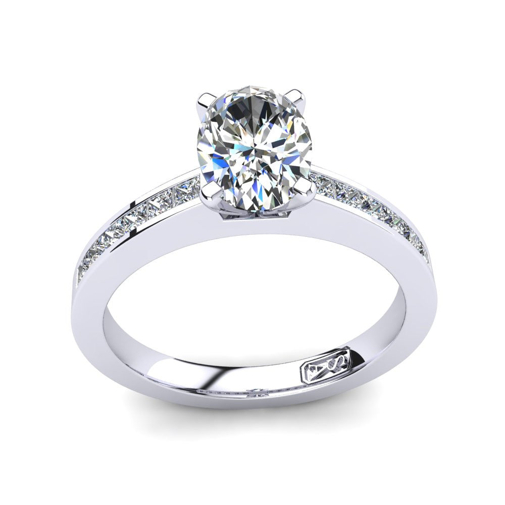 'Lydia' Oval Cut Engagement Ring