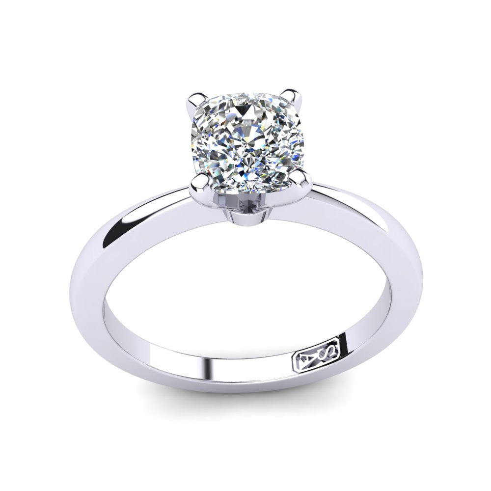 'Grace' Cushion Cut Engagement Ring