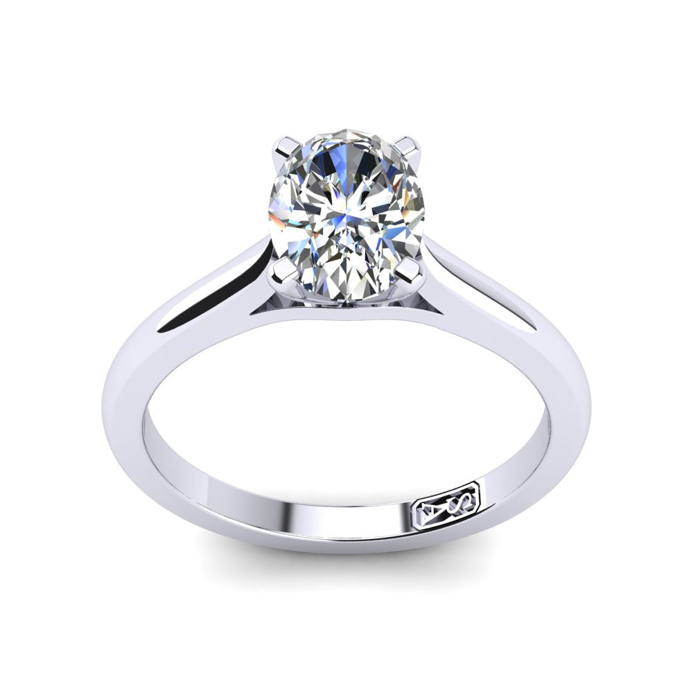 'Katie' Oval Cut Engagement Ring