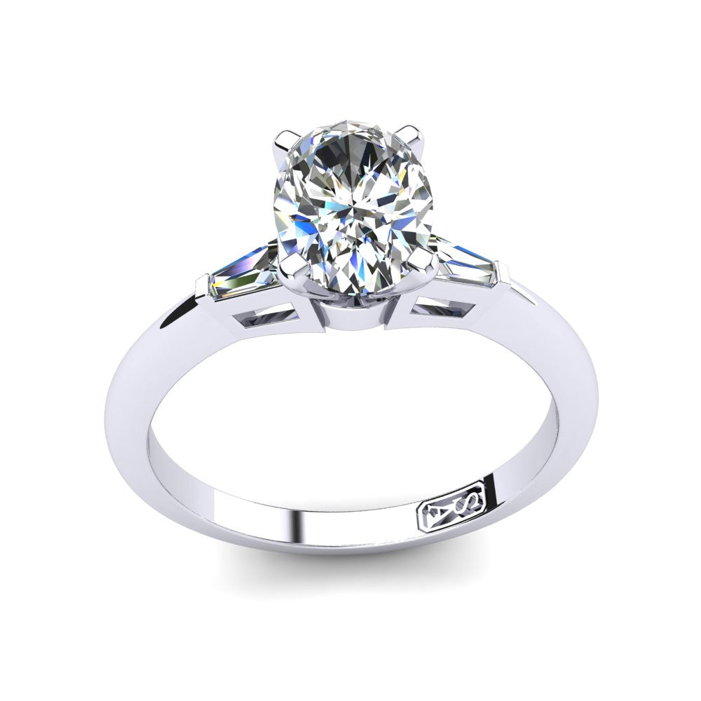 'Marni' Oval Cut Engagement Ring