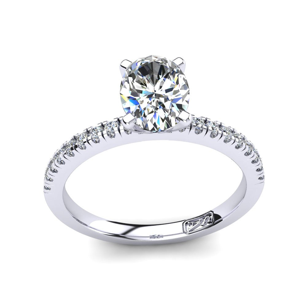 'Chloe' Oval Cut Engagement Ring
