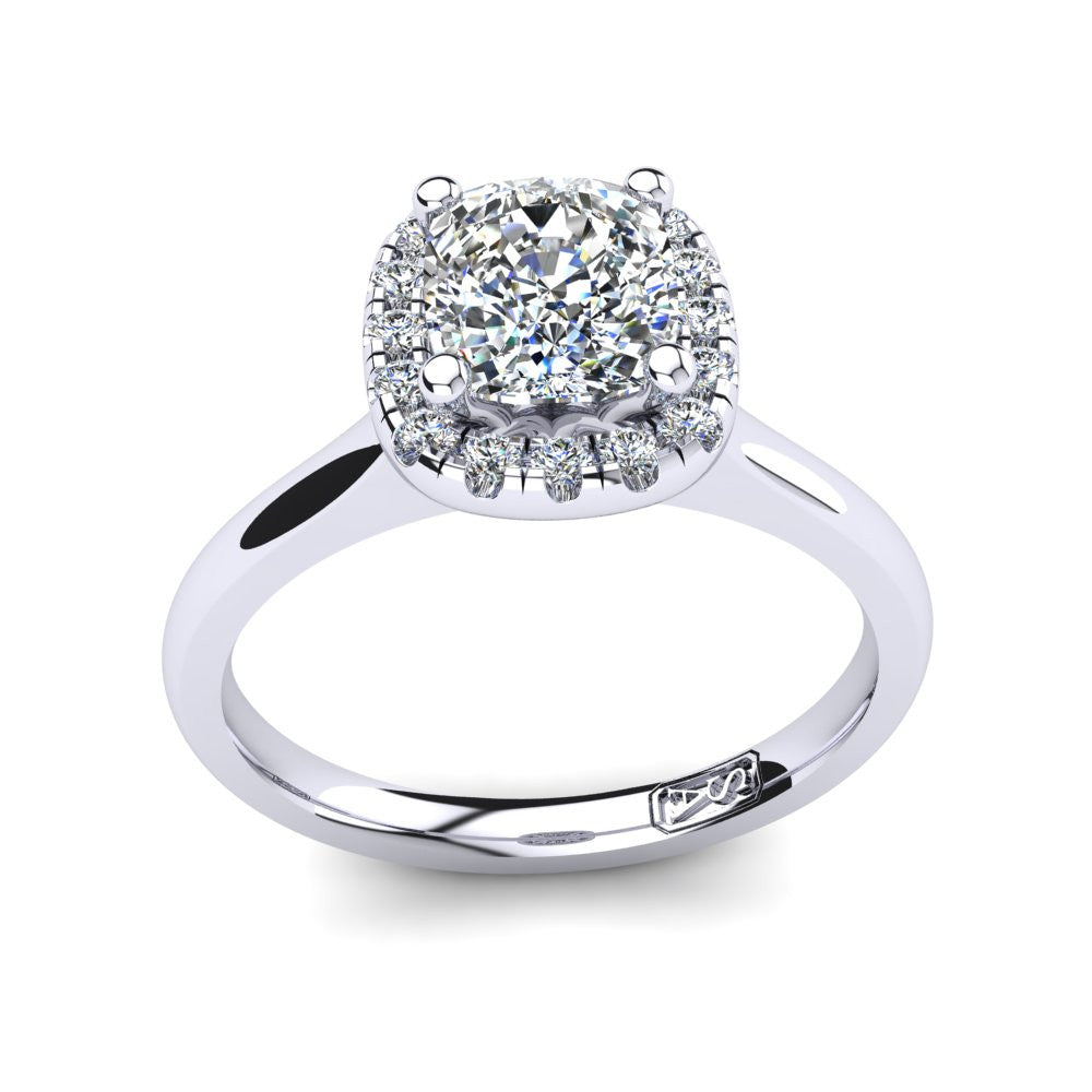 'Lola' Cushion Cut Engagement Ring