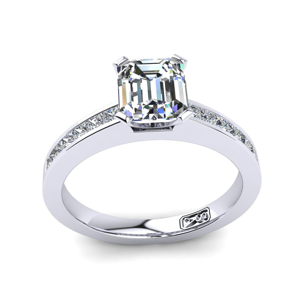 'Lydia' Emerald Cut Engagement Ring
