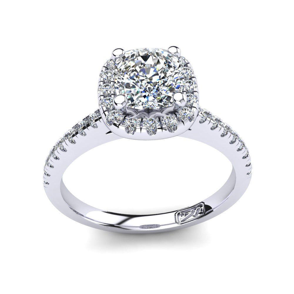 'Jenna' Cushion Cut Engagement Ring