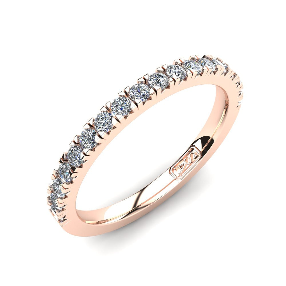 Claw Set Diamond Wedding Band