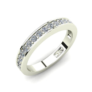 Bead Set Diamond Wedding Band