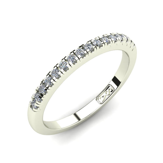 Petite U Claw Set Diamond Wedding Band