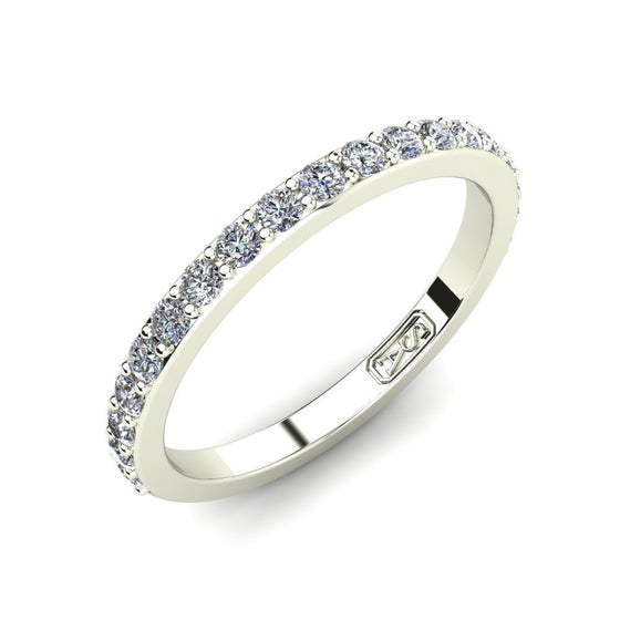 Shared Claw Diamond Wedding Band