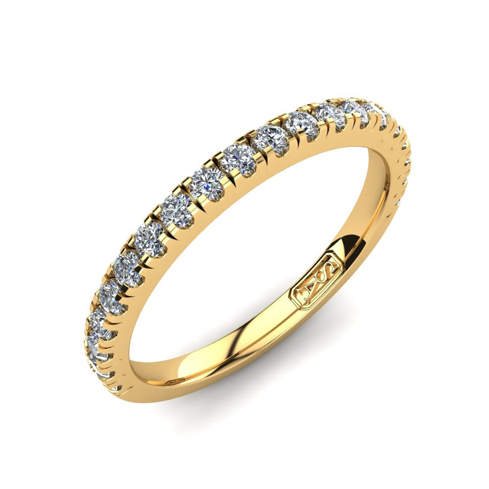 U Claw Set Diamond Wedding Band