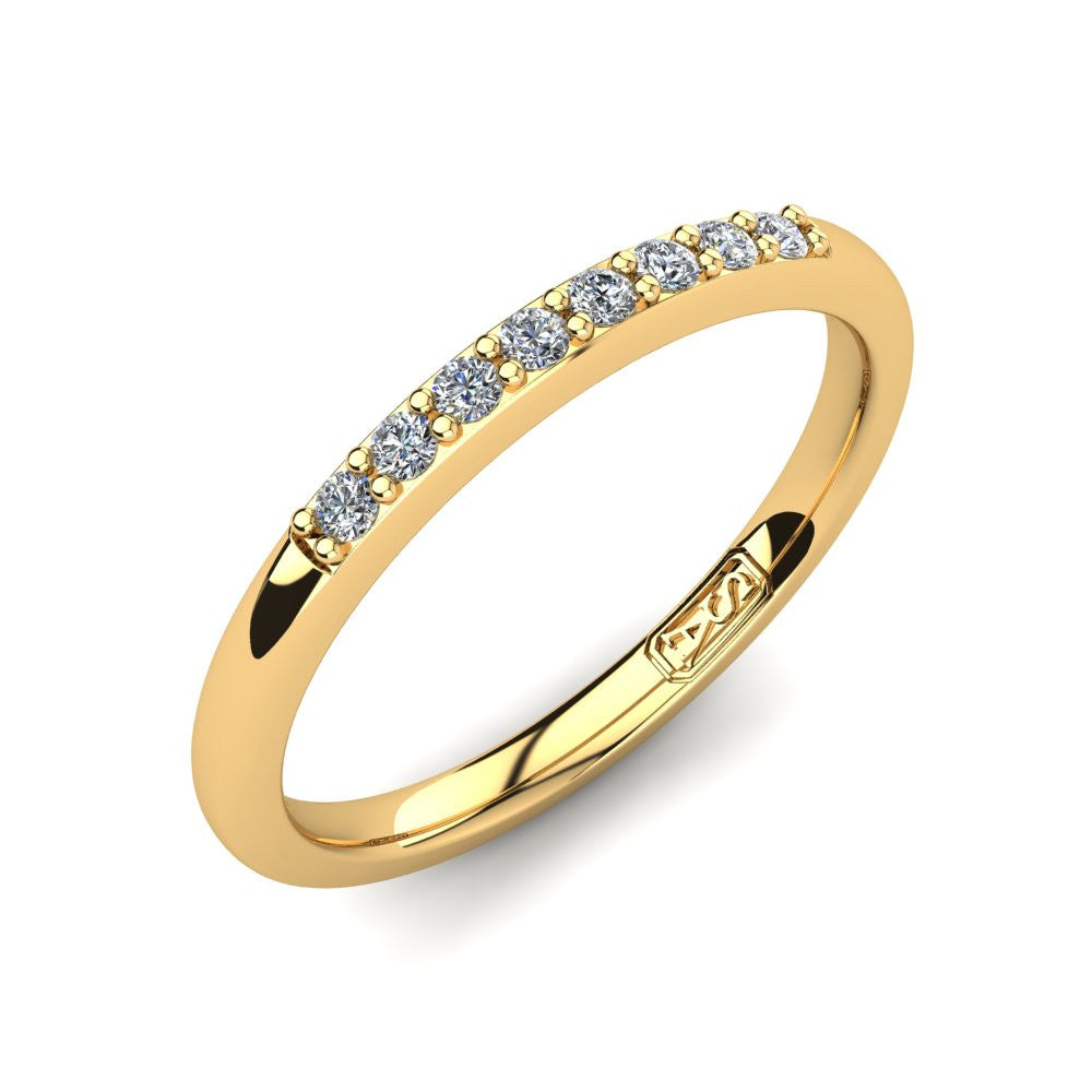 Petite Shared Claw Diamond Wedding Band