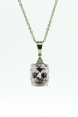 16.83ct Kunzite and Diamond Pendant
