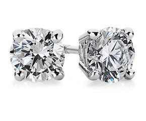 Diamond Stud Earrings in 18k White Gold (1 ct. tw.)