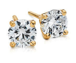 Diamond Earrings in 18k Yellow Gold (1 ct. tw.)