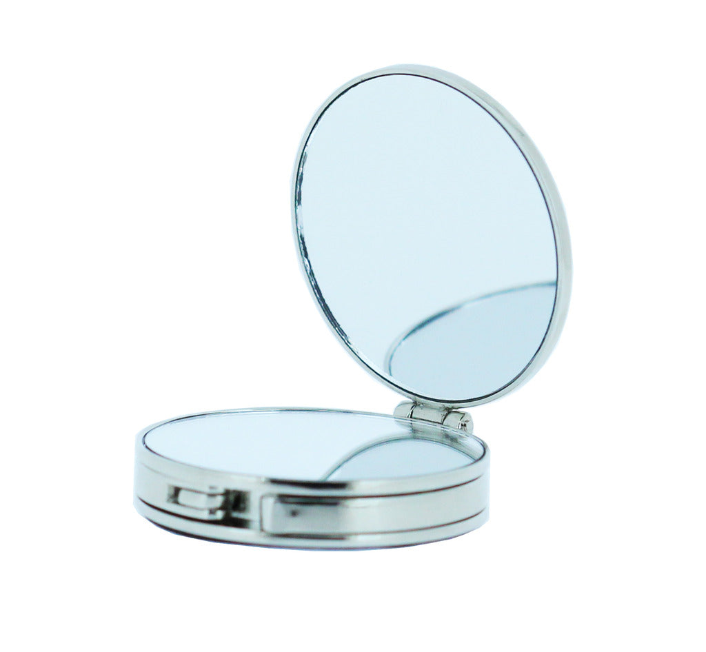 Handbag holder 'Silver' with built-in compact mirror