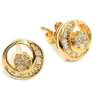 Diamond earrings set in 18kt Yellow gold (1/3 ct.tw.)