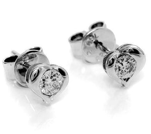 Diamond earrings set in 18kt White gold (1/4 ct.tw.)