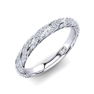 'Celia' Diamond Wedding Band