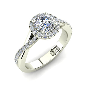 'Anna' Round Brilliant Cut Engagement Ring