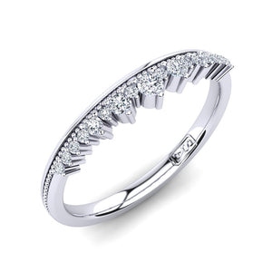 'Venus' Diamond Wedding Band