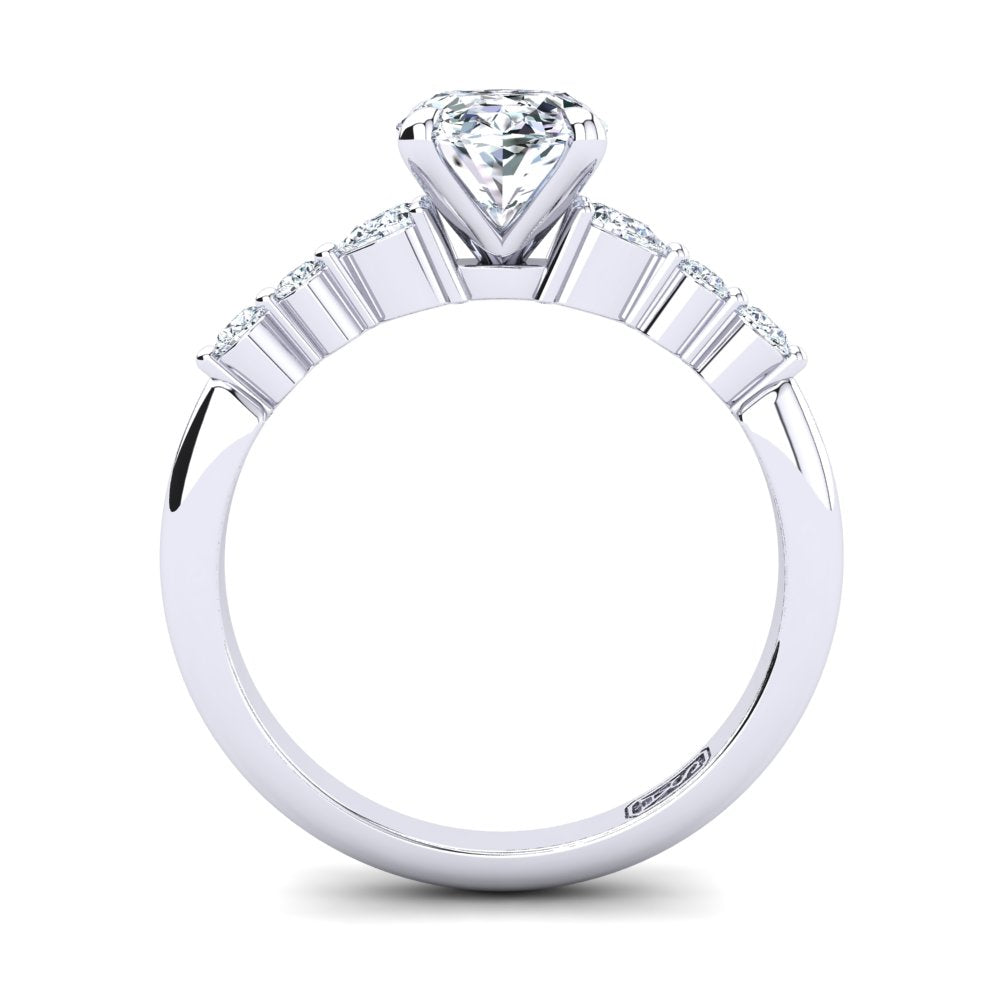 'Dee' Oval Cut Engagement Ring