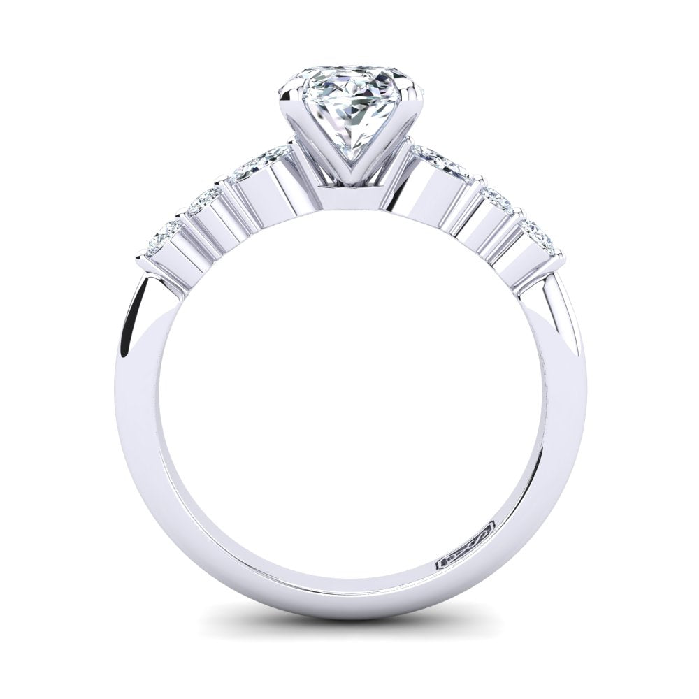 'Stacy' Oval Cut Engagement Ring
