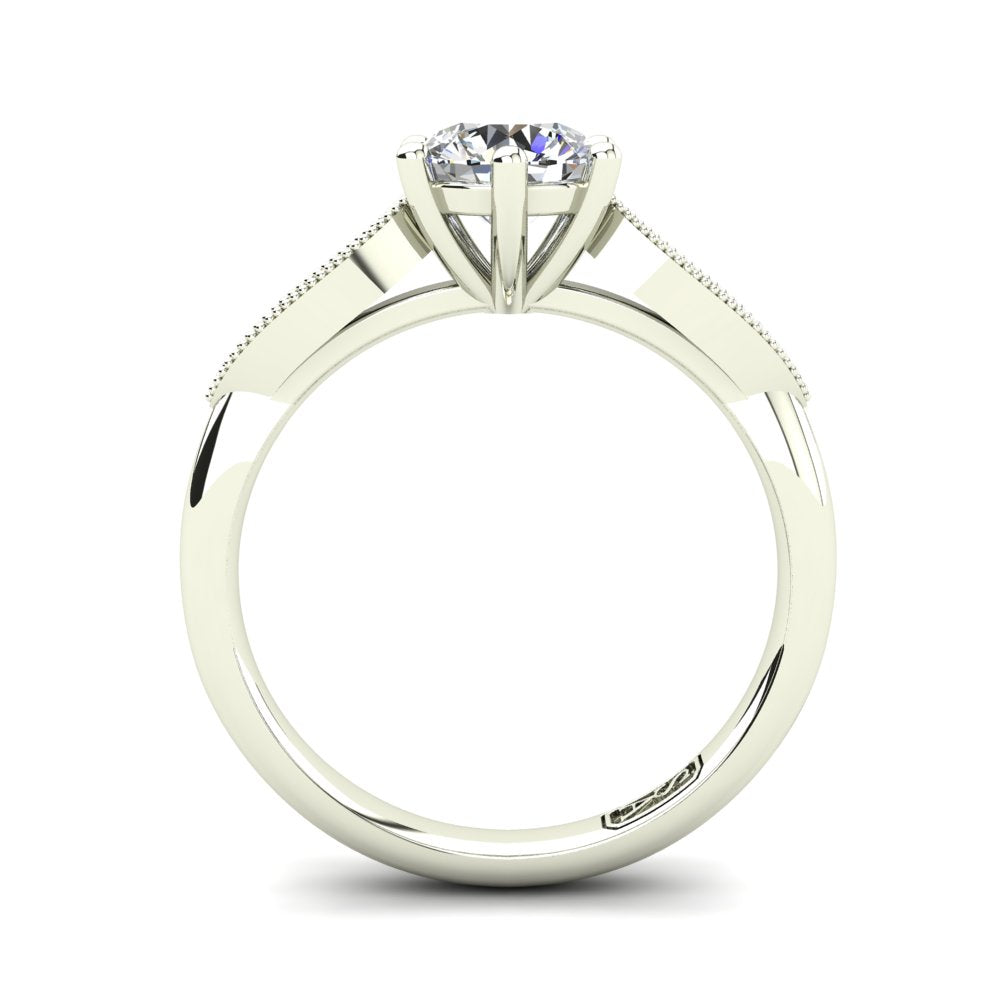 'Elise' Round Brilliant Cut Engagement Ring