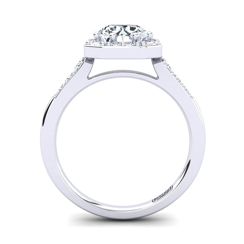 'April' Round Brilliant Cut Engagement Ring