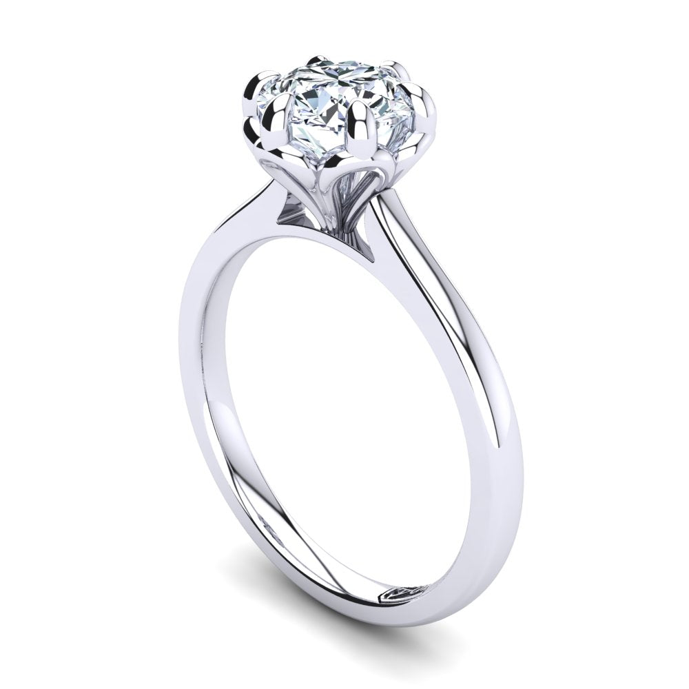 'Tulip' Round Brilliant Cut Engagement Ring