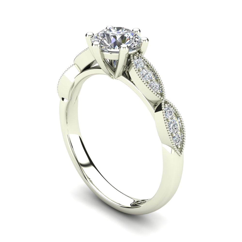 'Lisa' Round Brilliant Cut Engagement Ring